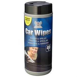 BASTA CAR WIPES RUDERENS 40 STK